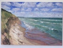A photo of A Walk along the Beach--a windy day at Lake Michigan